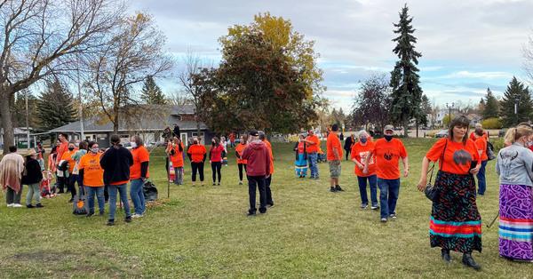 Wetaskiwin Orange Shirt Day Gathering Remembers the Children