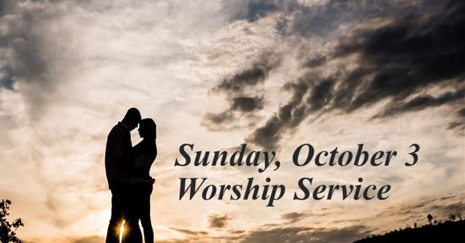 Sunday, October 3 Worship Service image