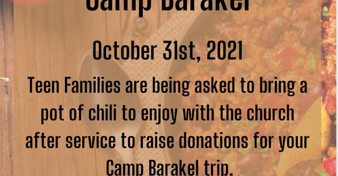 Chili Fundraiser for Camp Barakel