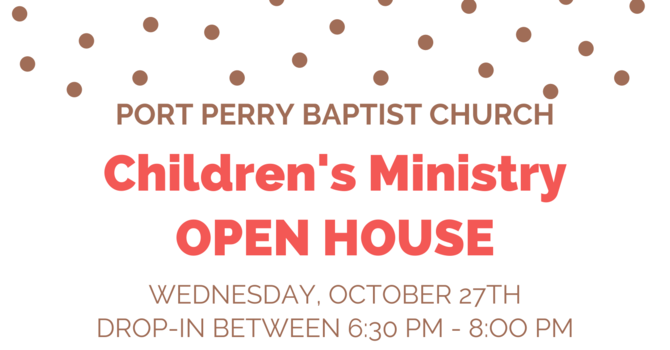 PPBC Children's Ministry Open House