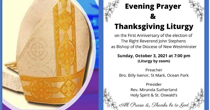 Evening Prayer and Thanksgiving for Bishop John Stephens - One Year Anniversary of Election image