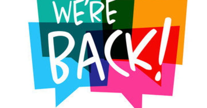 We're Back! image