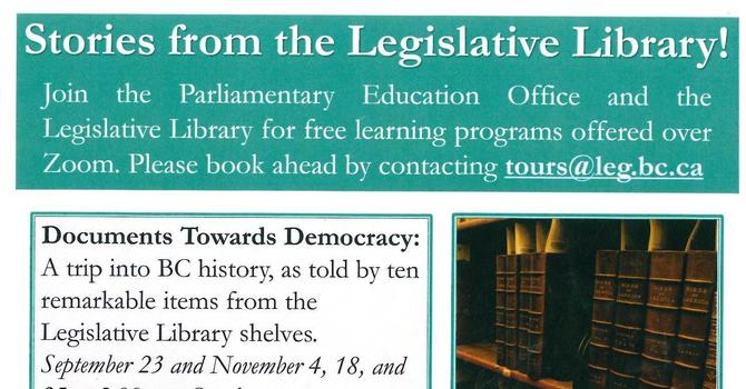 Stories from the Legislative Library image