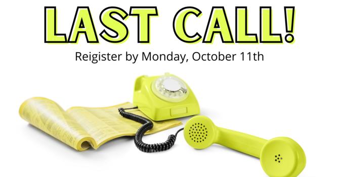 Directory Registration Deadline Monday October 11th image