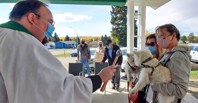 Four-legged and Feathered Friends Blessed at All Saints', Drayton Valley image