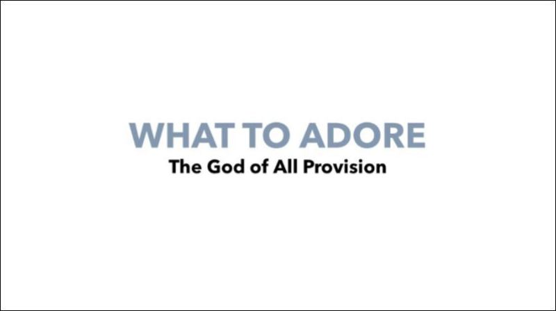 God of All Provision