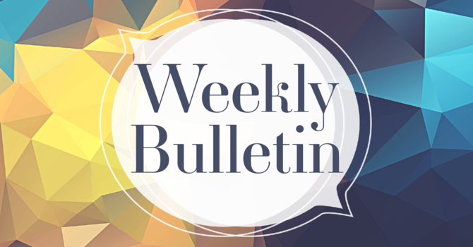 Bulletin for Sunday October 10th, 2021