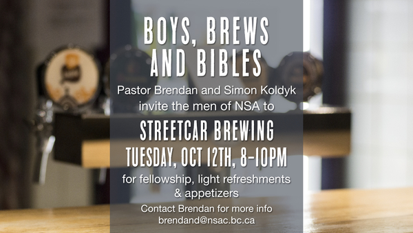 Boys, Brews and Bibles