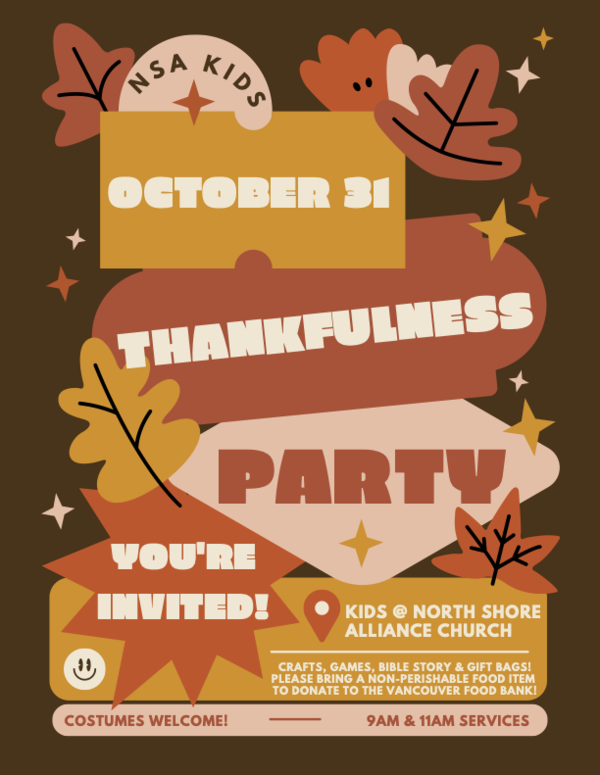 NSA Kids   Thankfulness Party