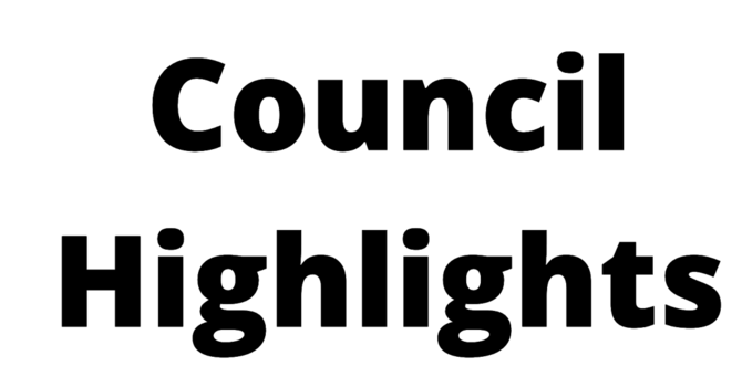 SEPTEMBER COUNCIL HIGHLIGHTS image