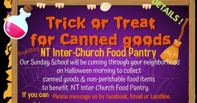 Trick or Treat for Canned Goods!