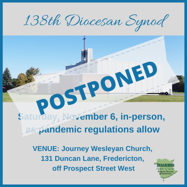 POSTPONED - 138th Session of Diocesan Synod