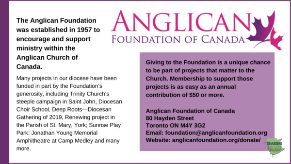 Become a member of the Anglican Foundation!