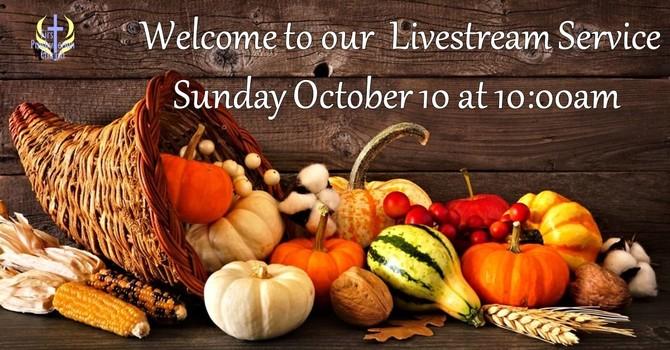 Sunday October 10 Livestream Service