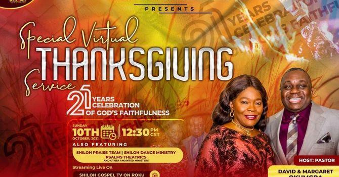 21 Years Anniversary Thanksgiving