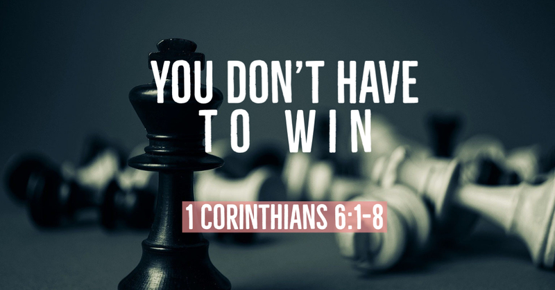 You Don't Have to Win