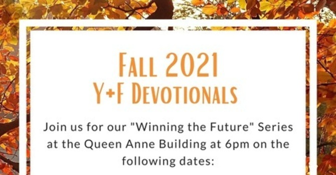 Fall 2021 - Youth & Family Devotionals