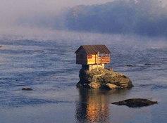 House on foundational rock