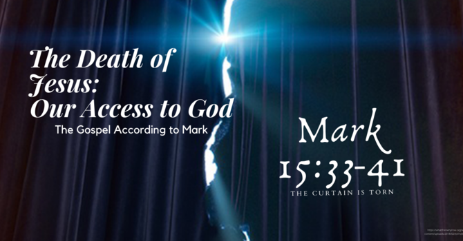 The Death of Jesus Our Access to God