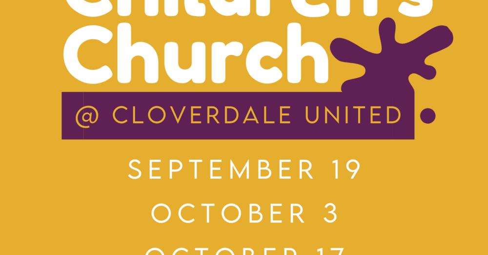Children's Church resuming