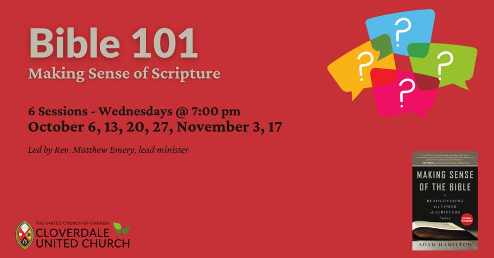 Bible 101: Making Sense of Scripture