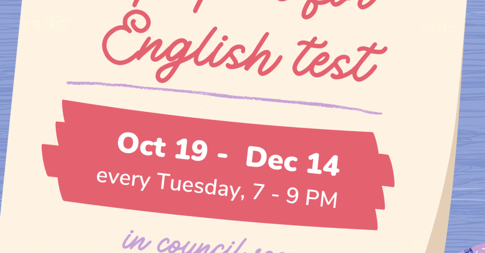 New English Language Learning (ELL) Class – Studying for the Exam