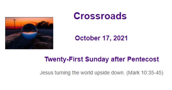 Crossroads October 17, 2021