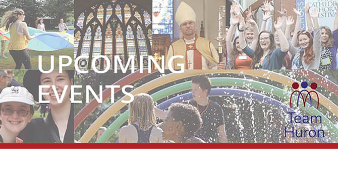 Upcoming events - Diocese of Huron image
