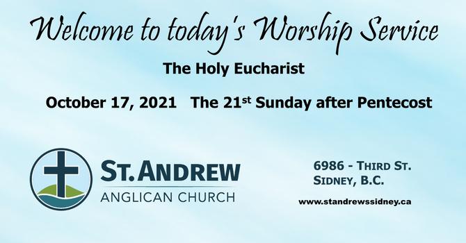 October 17, 2021 Sunday Worship image