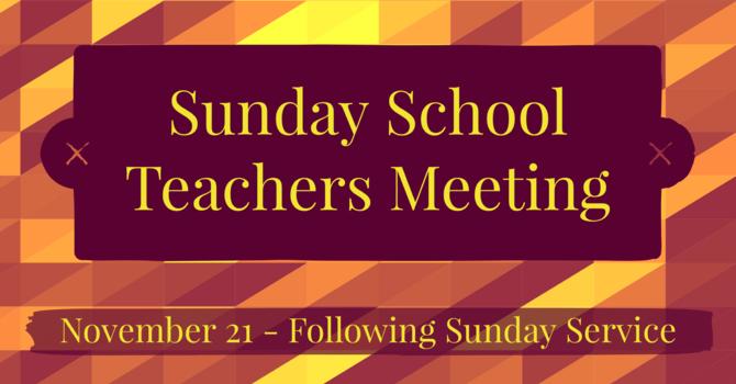 SS Teachers' Meeting