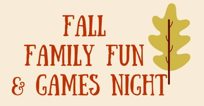 Fall Family Fun & Games Night