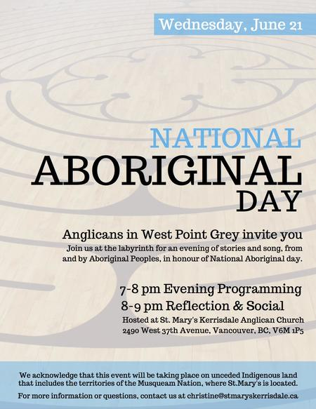 National Aboriginal Day Observance