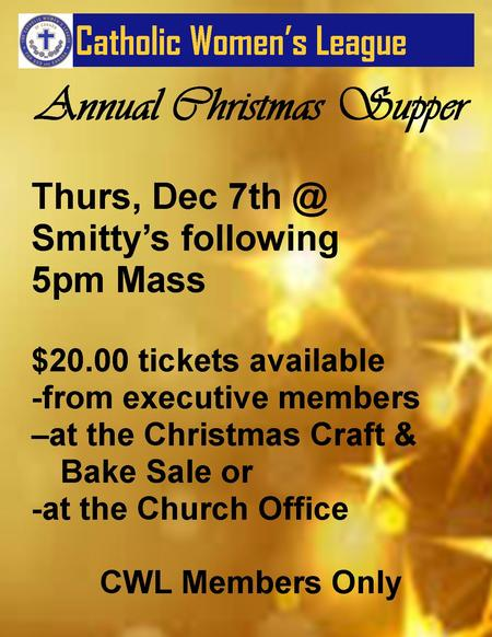 CWL Christmas Supper