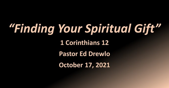 Finding Your Spiritual Gift