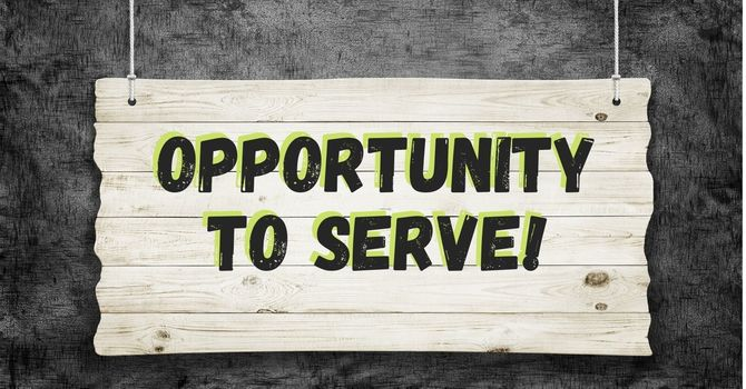 Opportunity to Serve! image