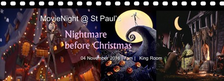 "Movienight presents ""Nightmare before Christmas"""