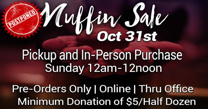 October Muffin Sale