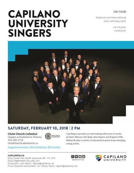 Capilano University Singers in concert