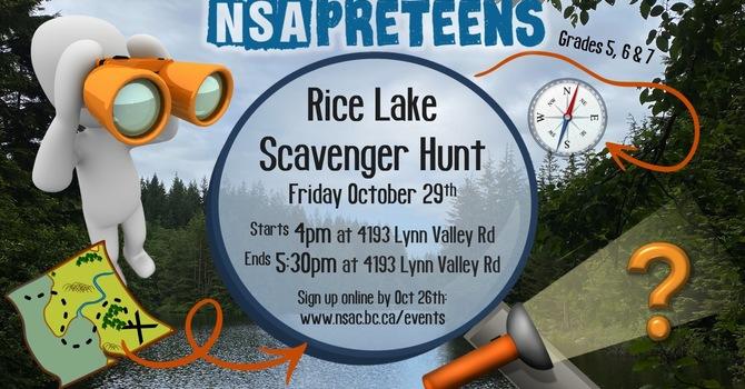 Preteen Rice Lake Scavenger Hunt