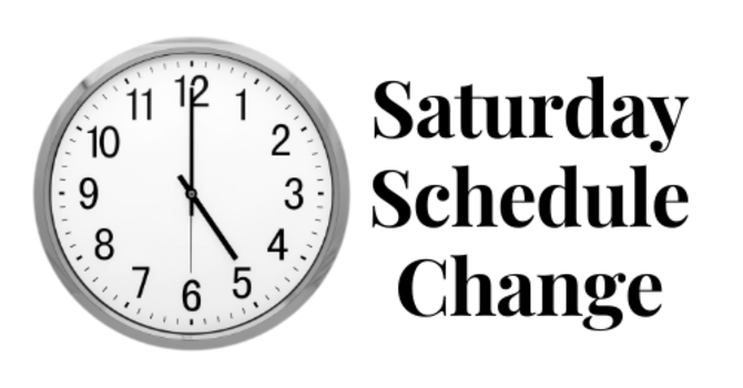 Saturday Prayer/Soul Winning Schedule Change