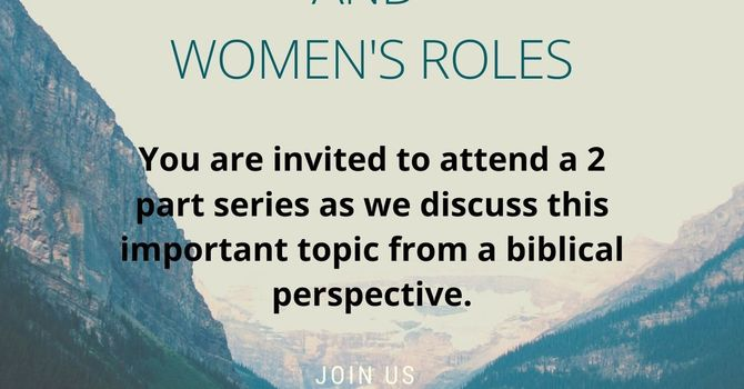 The Bible, Gender, and Women's Roles