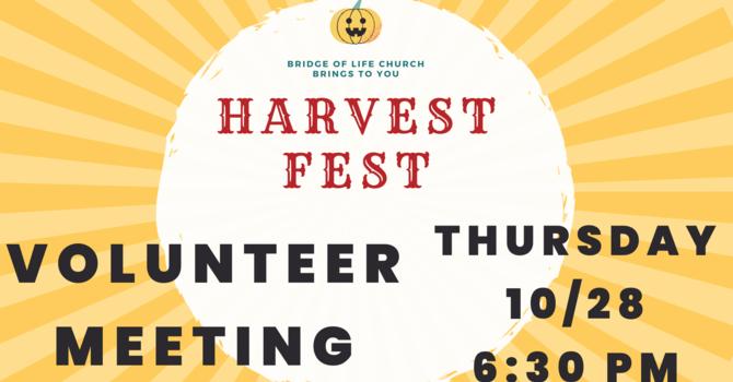 Harvest Fest Info Meeting