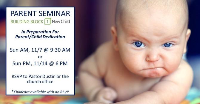 Building Block 1 New Child Seminar