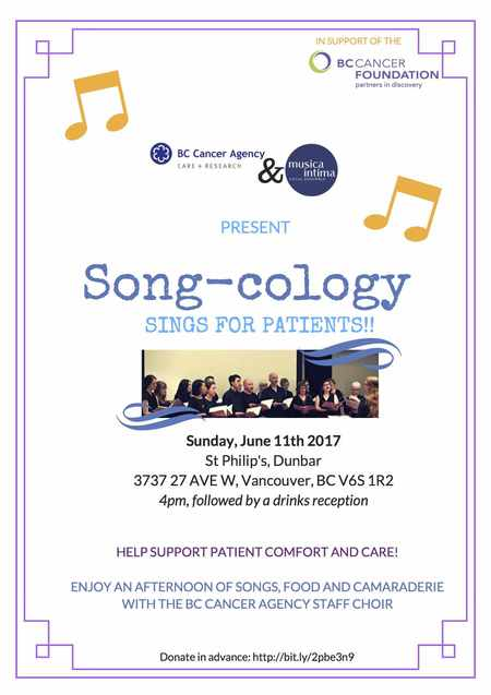 Song-cology BC Cancer Fundraiser