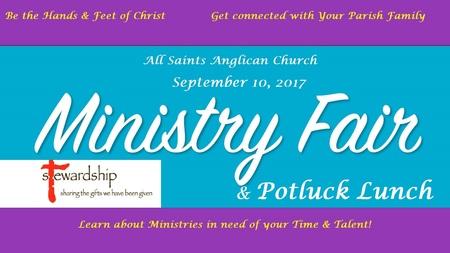 All Saints Ministry Fair & Potluck Lunch