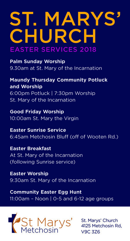 St. Mary's Easter Services 2018