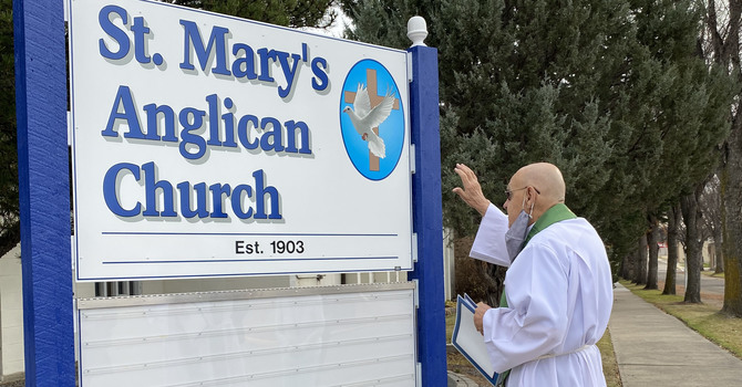 St. Mary's Welcomes Community with New Sign image