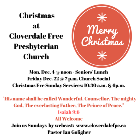 Christmas at Cloverdale FPC