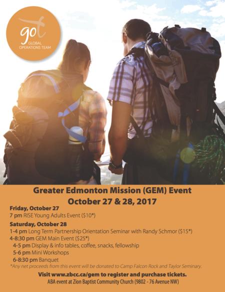 Greater Edmonton Missions GO Team Event