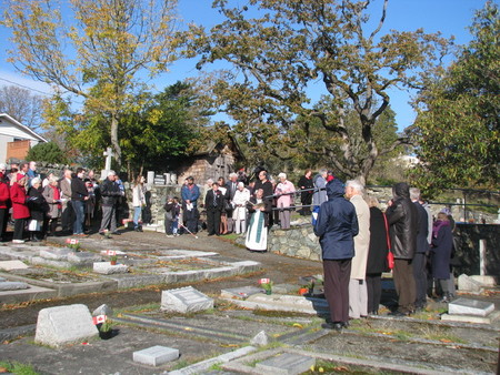 Family Members and Friends Gathered for a Service of Remembrance